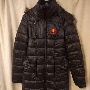 Red Bull Women's Puffer Coat Black Size Small
